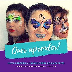 Workshop de Pintura Facial Inciante em Campinas