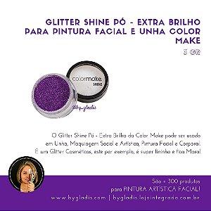Glitter Shine Pó - Extra Brilho para Pintura Facial e Unha Color Make 3 gr