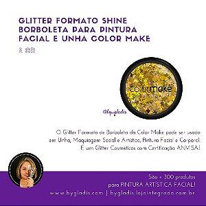 Glitter Formato Shine para Pintura Facial e Unha Color Make 2 gr