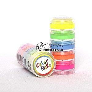 Torre Glitter Pó Iridescente para Pintura Facial e Unha Color Make | 5 cores Fluorescentes