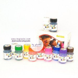 KIT TINTA LÍQUIDA PARA PINTURA FACIAL - COLOR MAKE 25 ML | 12 CORES