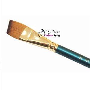 Pincel Chanfrado Keramik para Pintura Facial ONE STROKE | 735-16 Linha Premium