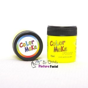 TINTA LÍQUIDA FACIAL FLUORESCENTE AMARELO | COLOR MAKE 15 ML