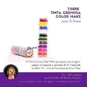 Torre Tinta Cremosa para Pele Pintura Facial Color Make | 10 Cores
