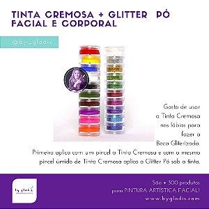 Kit Tinta Cremosa + Torre de Glitter Pó Color Make | Boca Gliterizada
