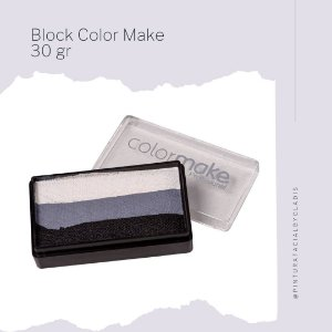 Bloco Colorido para Pintura Artística Facial Color Make 30 gr | BL 7 - BC-PK-RX-PT