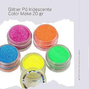 Glitter Pó Facial Iridescente - Fluorescente Color Make | 5 Cores