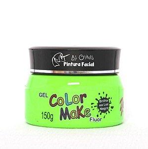 Gel Fluorescente para Cabelo Color Make 150 gr | Verde Neon
