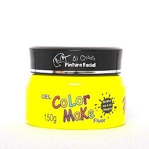 Gel Fluorescente para Cabelo Color Make 150 gr | Amarela - Amarelo Neon