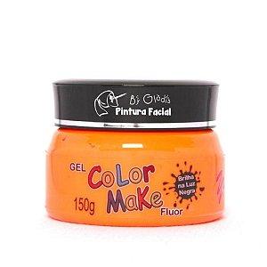 Gel Fluorescente para Cabelo Color Make 150 gr | Laranja Neon