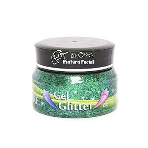 Gel Glitter para Cabelo Color Make 150 gr | Verde
