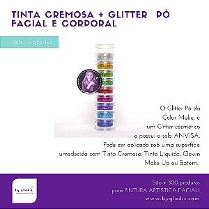 Torre Glitter Cosmético Facial e Corporal Color Make | 10 Cores