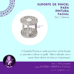 Suporte Plástico Keramik para Pintura Artística Facial | 15051 Cor Creme