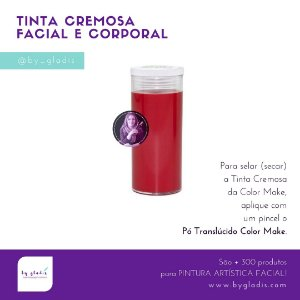 Tubo Tinta Cremosa Facial e Corporal Maquiagem Artística Color Make 20 gr | Vermelho - Vermelha