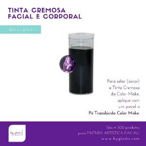 Tubo Tinta Cremosa Facial e Corporal Maquiagem Artística Color Make 20 gr   Preto - Preta
