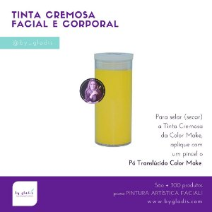 Tubo Tinta Facial e Corporal Cremosa Maquiagem Artística Color Make  20 GR | Amarelo