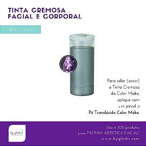 Tubo Tinta Cremosa Facial Metálica Maquiagem Artística Color Make 20 gr   Prata