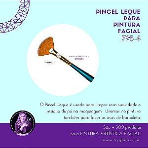 Pincel Leque Keramik para Pintura Facial | 795-4 Linha Premium