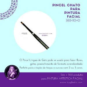 Pincel Chato Keramik de Pintura Facial |#383 10-0 Linha Mini Brush
