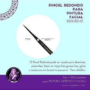 Pincel Redondo Keramik para Pintura Facial | 303 #30-0 Linha Mini Brush