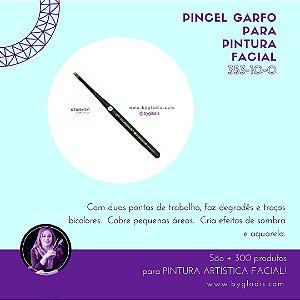 Pincel Garfo Keramik para Pintura Facial | #353 10-0 Linha Mini Brush