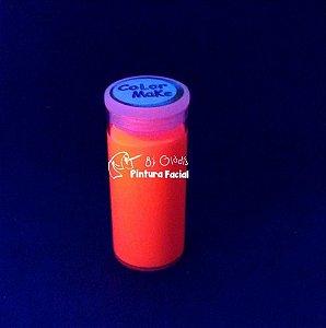 Tubo Tinta Cremosa Facial e Corporal Maquiagem Artística Flúor Color Make 20 gr | Laranja