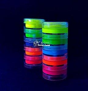 Kit  Tinta Cremosa + Torre Glitter Pó | Boca Gliterizada Fluorescente