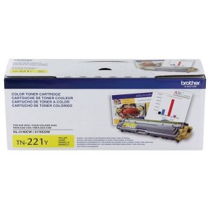 Cartucho Toner Brother TN221, TN 221Y, HL 3170CDW, 3140CW Amarelo Original