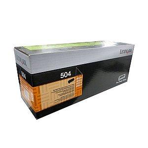 Toner Lexmark MS610dn | 50F4X00 | Lexmark 504 Preto Original