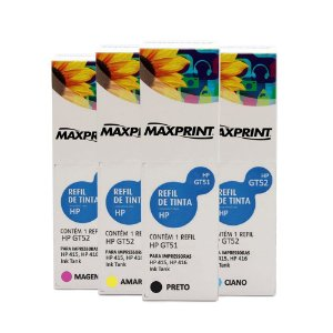 Kit 4 Tintas HP 116 Ink Tank | GT51 | GT52 Maxprint 100ml