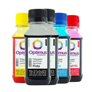 Kit de Tintas HP 116 Ink Tank Preta 200ml + Coloridas 100ml Optimus