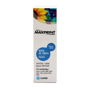 Tinta Epson 673 | L1800 | T673220 EcoTank Ciano Maxprint 100ml