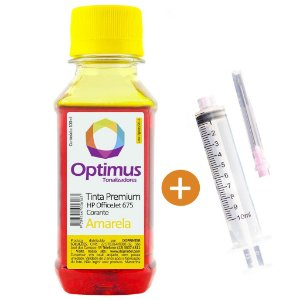Tinta para Cartucho HP 675 | CN691AL Officejet Amarela 100ml