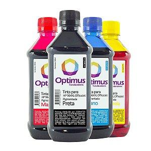 Kit de Tinta HP 9020 | HP 964 OfficeJet Pro Pigmentada Preta + Coloridas 500ml