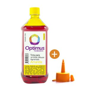 Tinta HP 7110 OfficeJet | HP 933XL Amarela Pigmentada 1 litro