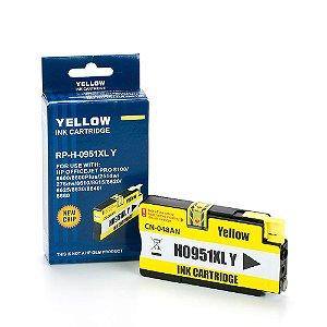 Cartucho HP 8610 | 8100 | HP 951XL Amarelo Compatível 19,50ml