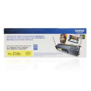 Toner Brother MFC-L8600CDW | DCP-L8400CDN | TN-316Y Amarelo Original