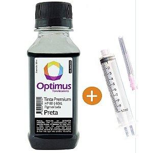 Tinta para Cartucho HP F4480 | HP D110a | HP 60 Preta Pigmentada