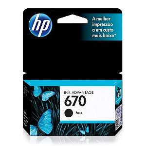Cartucho HP 670 | HP 4625 Ink Advantage Preto Original 7,5ml
