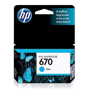 Cartucho HP 5525 | HP 3525 | HP 670 Ciano Original 3,5ml