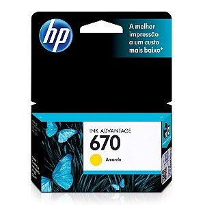 Cartucho HP 4625 | HP 670 | HP 6525 Amarelo Original 3,5ml
