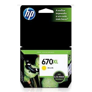 Cartucho HP 5525 | HP 670XL | HP 6525 Amarelo Original