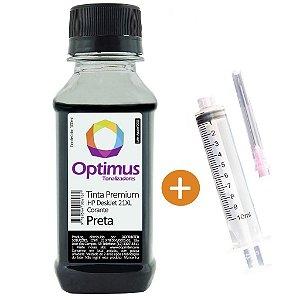 Tinta para Cartucho HP 21 | 1410 | C9351AL Pigmentada Optimus Preta