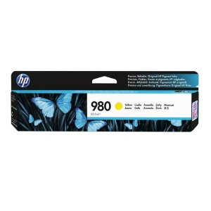 Cartucho HP X585F | HP 980 | X555XH | D8J09A Amarelo Original