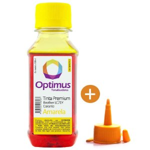 Tinta para Cartucho Brother DCP-J725DW | LC71Y Amarela Corante Optimus