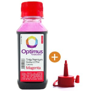 Tinta para Cartucho Brother MFC-J6710DW | DCP-J525W | LC75M Magenta Optimus