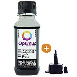 Tinta para Cartucho Brother MFC-J6520DW | LC109BK Preta Optimus