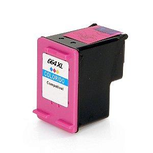 Cartucho para HP 1115 | HP 664XL | F6V30AB Colorido Compatível