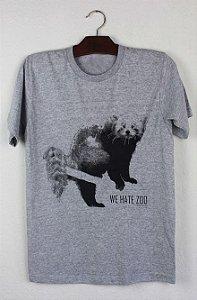 camiseta panda vermelho
