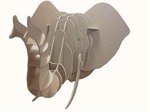 cabeça decorativa elefante